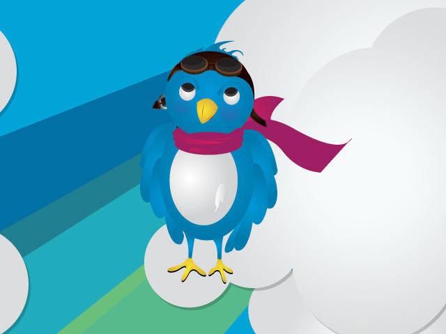 free vector Pilot Twitter Bird Vector