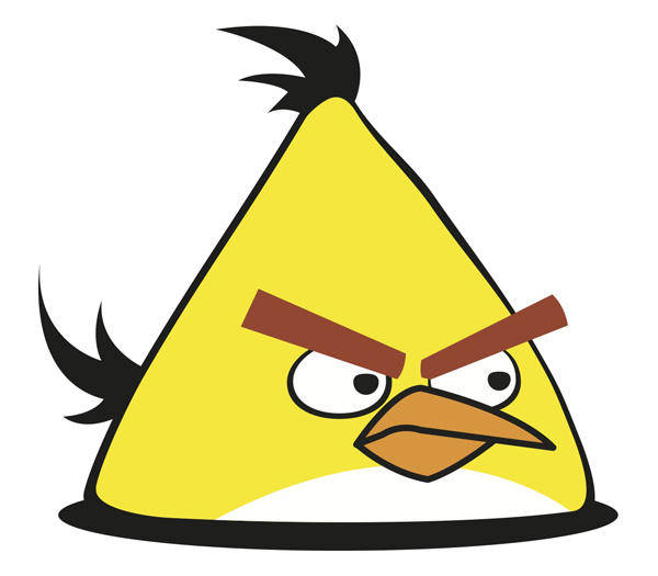 free vector Yellow Angry Bird Vector