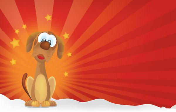free vector Cutty Dog