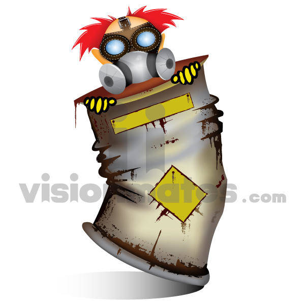 Character in Radioactive Material Vector
