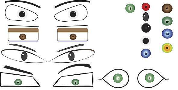 free vector Free Vector Eyes