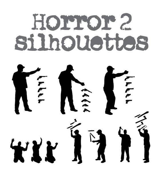 free vector Horror Silhouette -2