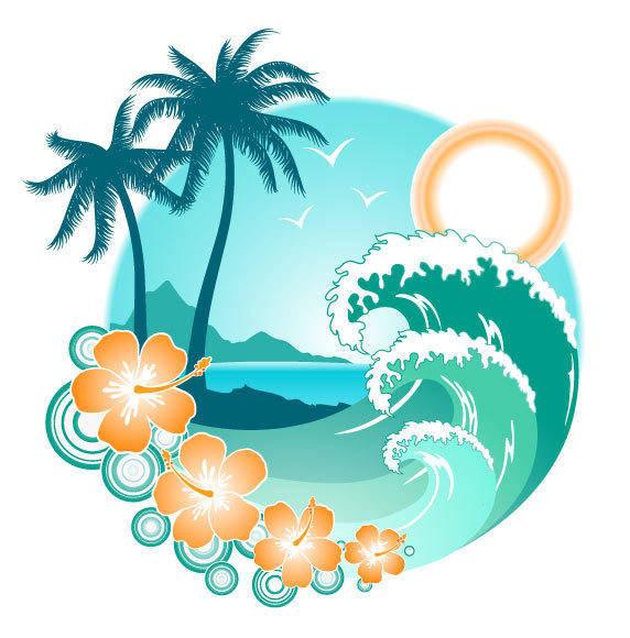free vector Summer Island