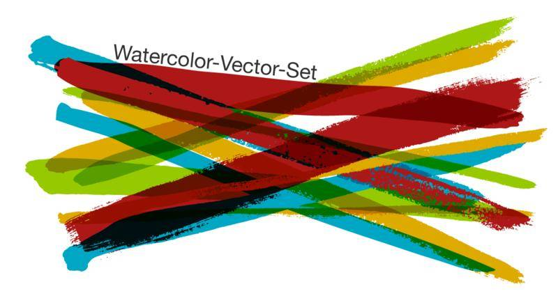 Free Watercolor-Vector-Set