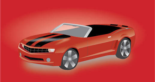 free vector Chevy Camaro Convertible