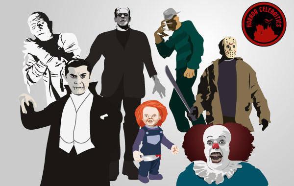 free vector Horror Celebrities