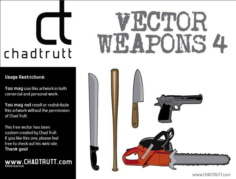 free vector Weapons 4