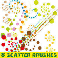 free vector Scatter brushes pack for Illustrator