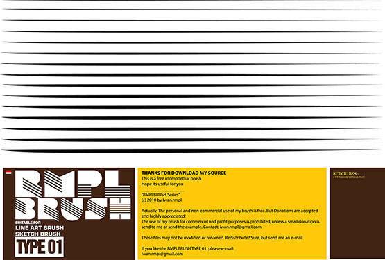 free vector Free rmpl line art brush