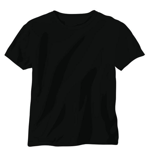 free vector Tshirt Vector: Black Shirt
