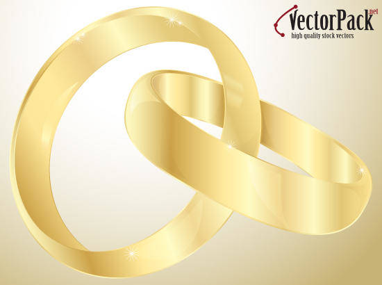 free vector Wedding Gold Rings Vectors