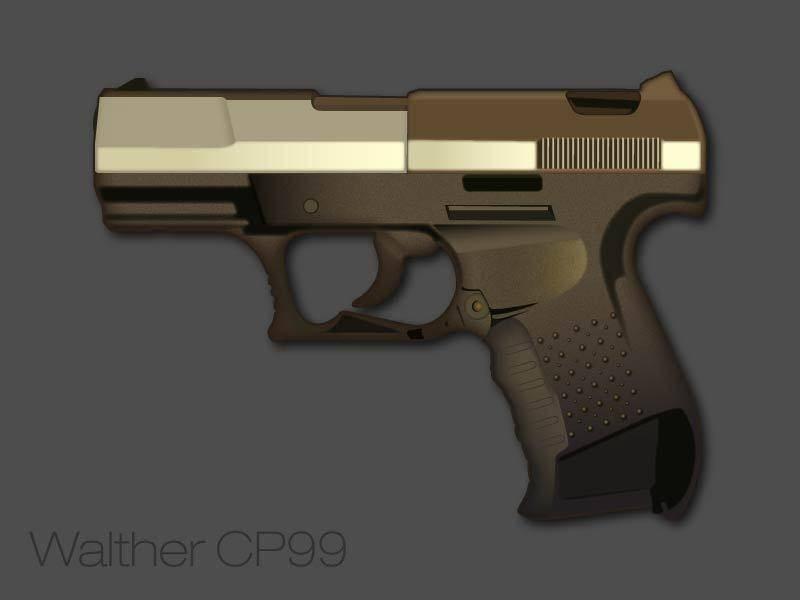 Walther Pistol Vector