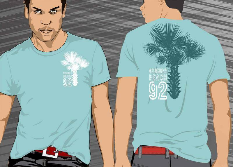 free vector Palmeira Palm Tree Tshirt Vector