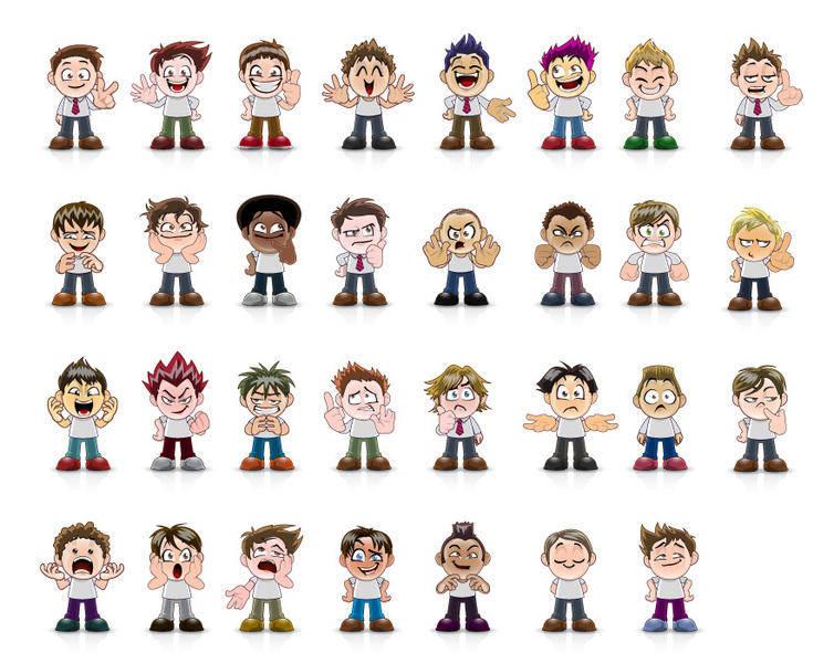 Vector Manga Avatar Faces