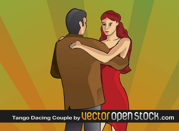 free vector Tango couple dancing