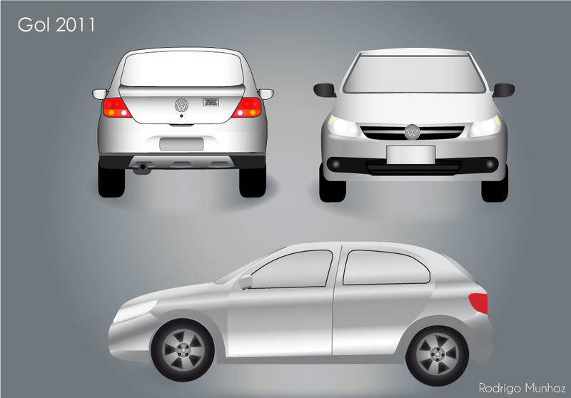 free vector VW Gol 2011 Car Vector Pack