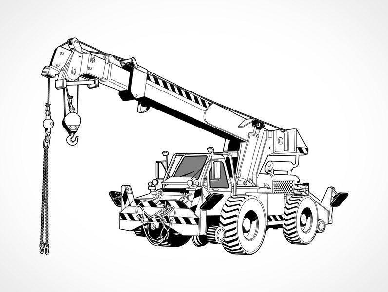 free vector Free Vector Rough Terrain Crane