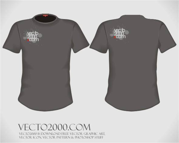 Vector illustration: T-shirt design template (for men)