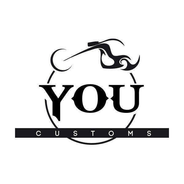 free vector You Customs Riderz Motorcycle Logo Vector