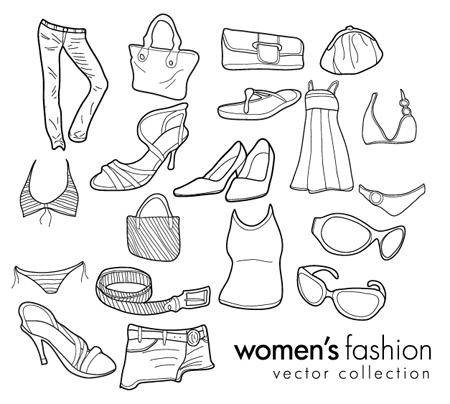 free vector Free Vector Doodles - Womenâ??s Clothing & Fashion