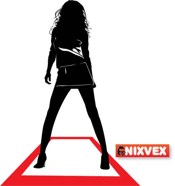 free vector NixVex Runway Girl Free Vector