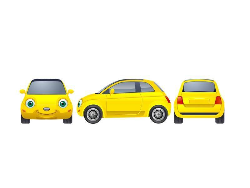 free vector Yellow Car