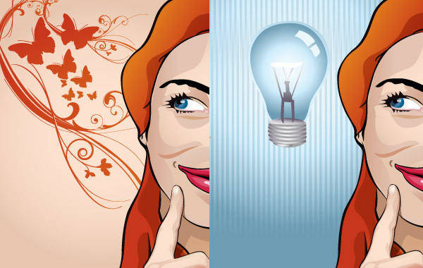 free vector Creative Woman