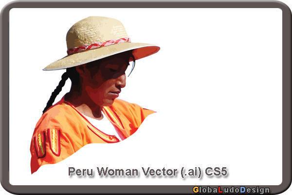 free vector Peru Woman Vector 2
