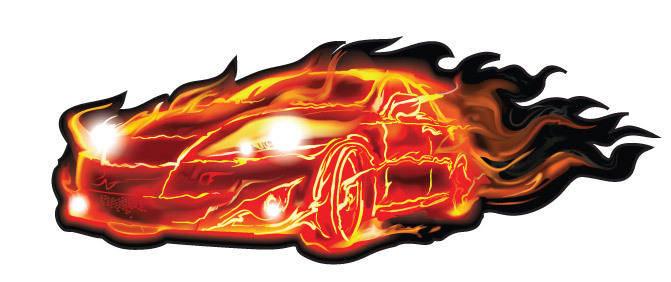 Flame Car Vector