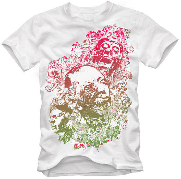 free vector Design Vector for Tshirts - Floral Zombie Nightmare