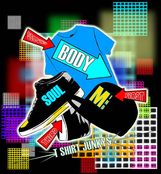 Tshirt Template Vector: MIND BODY AND SOUL
