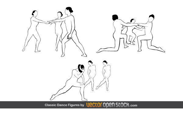 free vector Classic Dance Figures