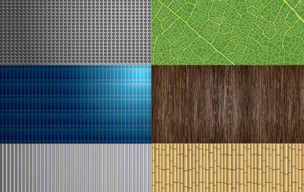 free vector Steel and Nature Textures