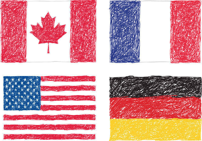 free vector Scribble Flags Vector