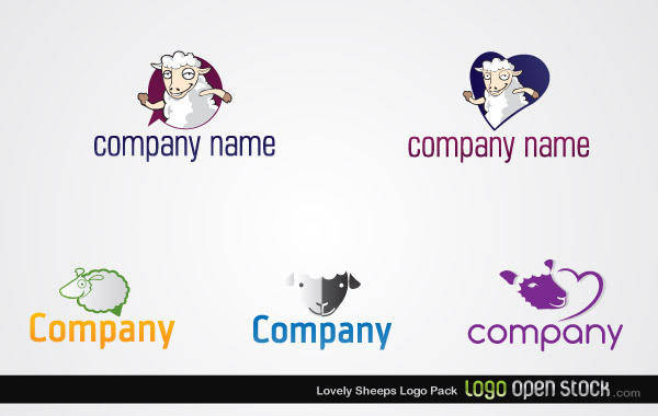 free vector Lovely Sheeps Logo Pack