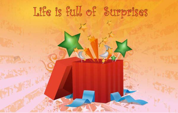 free vector Surprise box