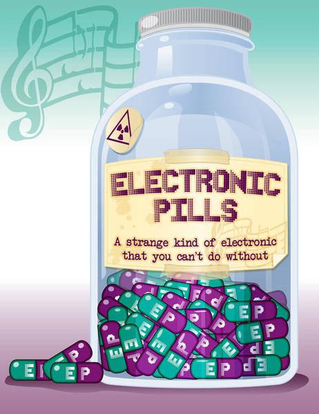 free vector Electronic pills bottle