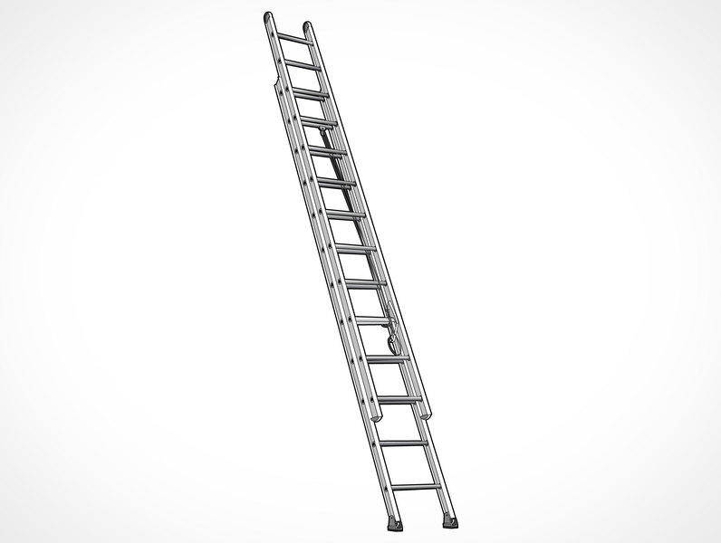 Free Vector Extending Ladder Illustration