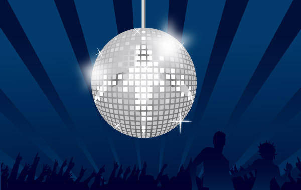 free vector Mirror Ball Discotheque