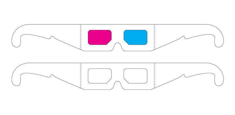 free vector 3D Glasses