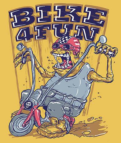 free vector Monsta biker