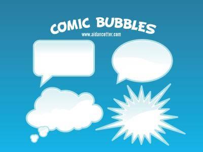 free vector Comic Bubble Vectors