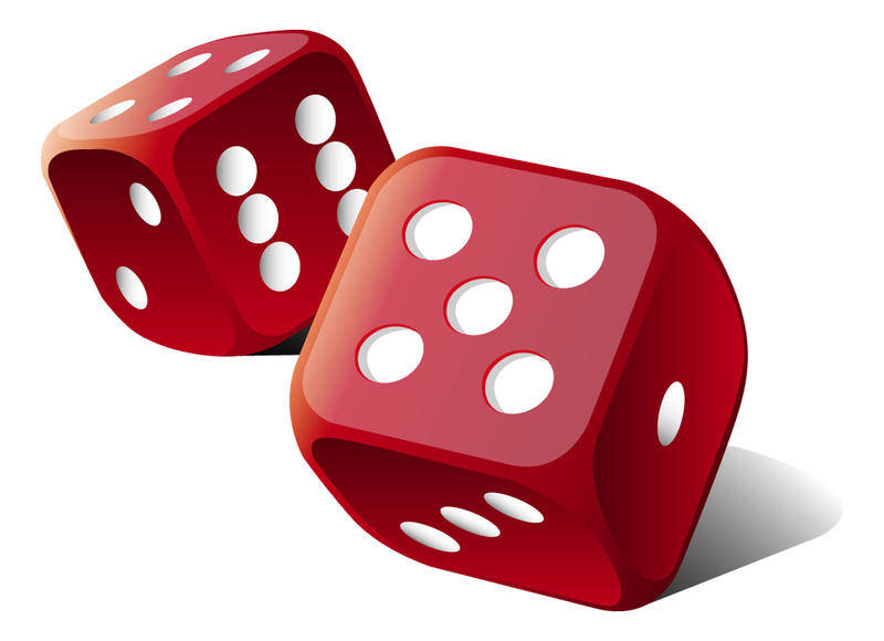 free vector Red Vector Dice