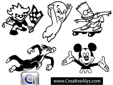 free vector Cartoon Characters and Mascots