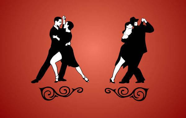 free vector Tango Dancing