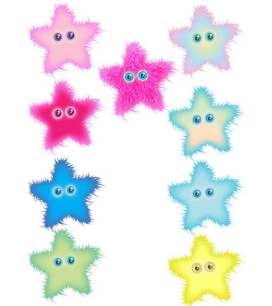 free vector Furry Star vectors