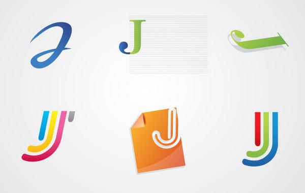 free vector Jay Letter Logo Pack