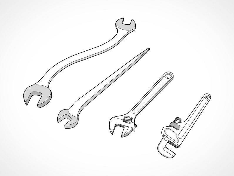 free vector Wrench Set