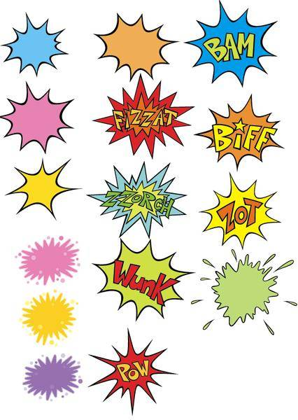 free vector Comic Blow-Up Vectors