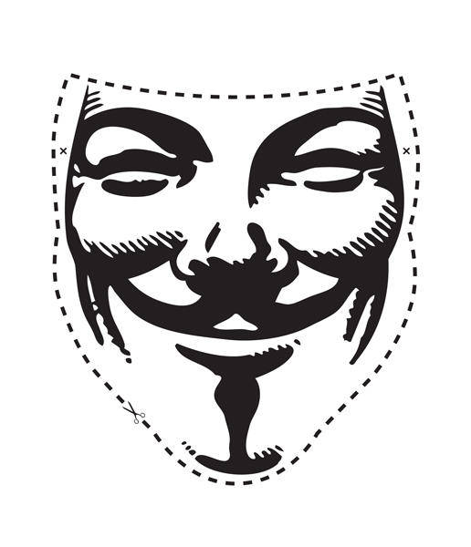 free vector V for Vendetta Mask